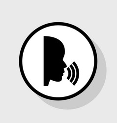 People speaking or singing sign flat vector