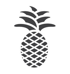 pineapple solid icon fruit and tropical vector image
