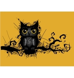 rough grungy owl vector image