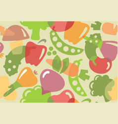 seamless background of vegetables vector image vector image