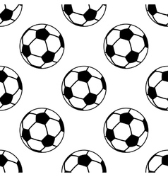 Seamless pattern with football or soccer balls vector