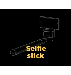Selfie stick thin line icon vector image vector image