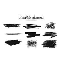 set of scribble vector image