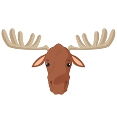 Single moose icon vector