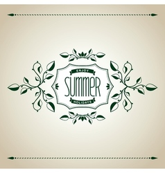 Summer vintage design vector