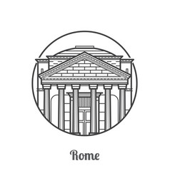 travel rome icon vector image vector image