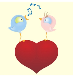 two loving birds vector image vector image