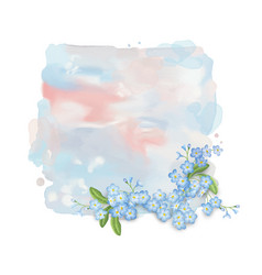 Watercolor banner with flowers vector