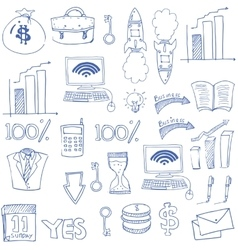 Doodle of hand draw business theme vector