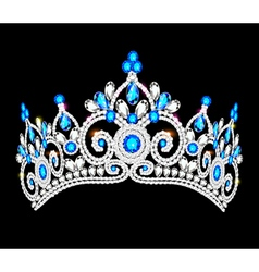 crown tiara women vector image