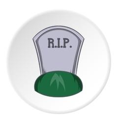 Grave rip icon cartoon style vector