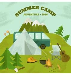 SummerCamp vector image