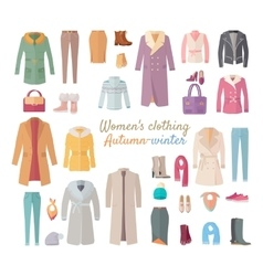 Women s Clothing Autumn Winter Collection vector image