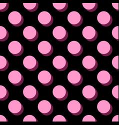 Tile pattern big pink polka dots vector