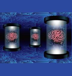 Brain circuit data transfer power concept vector
