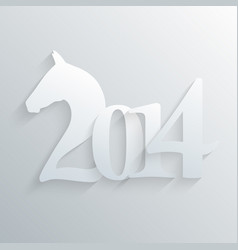 new year of the horse 2014 vector image