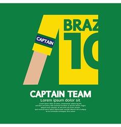 Brazil Captain SoccerFootball Team vector image