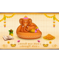 Lord ganesha made of clay ganesh chaturthi vector