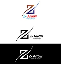 Z arrow logo vector