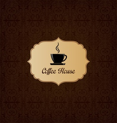 Brown elegant decorative coffee house menu vector