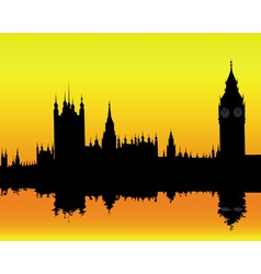 Silhouette of the london landscape vector