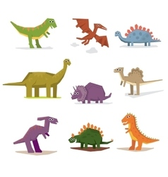 Dinosaurs and prehistoric period vector