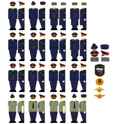 Casual uniforms of the ministry of justice vector