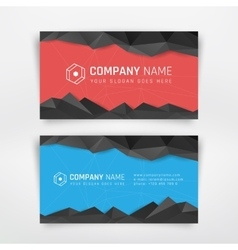 Business cards design vector image