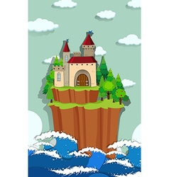 Castle on the island vector