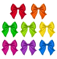 Set of silk bow vector