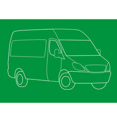 delivery van outline vector image
