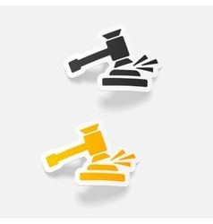 Realistic design element gavel vector