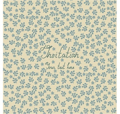 Floral invitation background vector