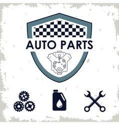 Shield icon auto part design graphic vector
