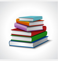 Books stack realistic vector