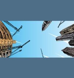Building design site background vector