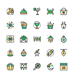 Christmas icons 3 vector
