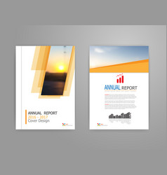 cover annual report vector image vector image