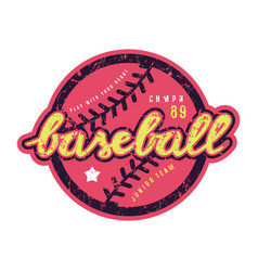 Emblem of baseball team vector