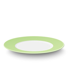 empty plate with light green pattern vector image