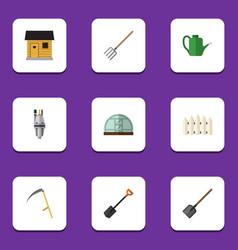 Flat icon garden set of pump spade bailer and vector