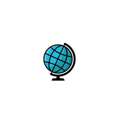 globe logo style isolated blue earth vector image vector image