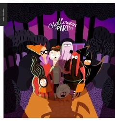Halloween party invitation card vector