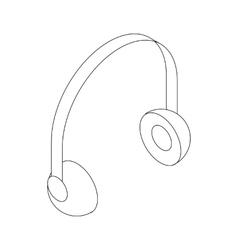 Headphone icon isometric 3d style vector image vector image