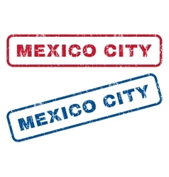 Mexico city rubber stamps vector