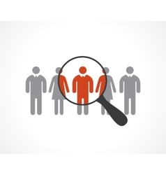 recruitment vector image
