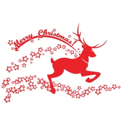 Reindeer and stars on a white background vector image