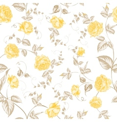 Seamless texture of pastel roses for textiles vector image vector image