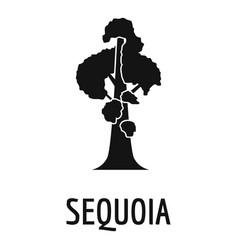 Sequoia icon simple black style vector