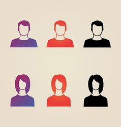 Set of men and women avatar profile in vector image